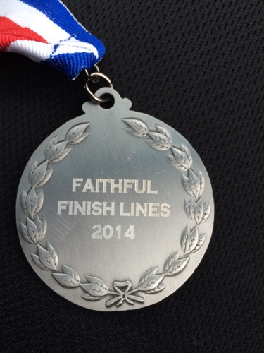 faithful finish lines medal