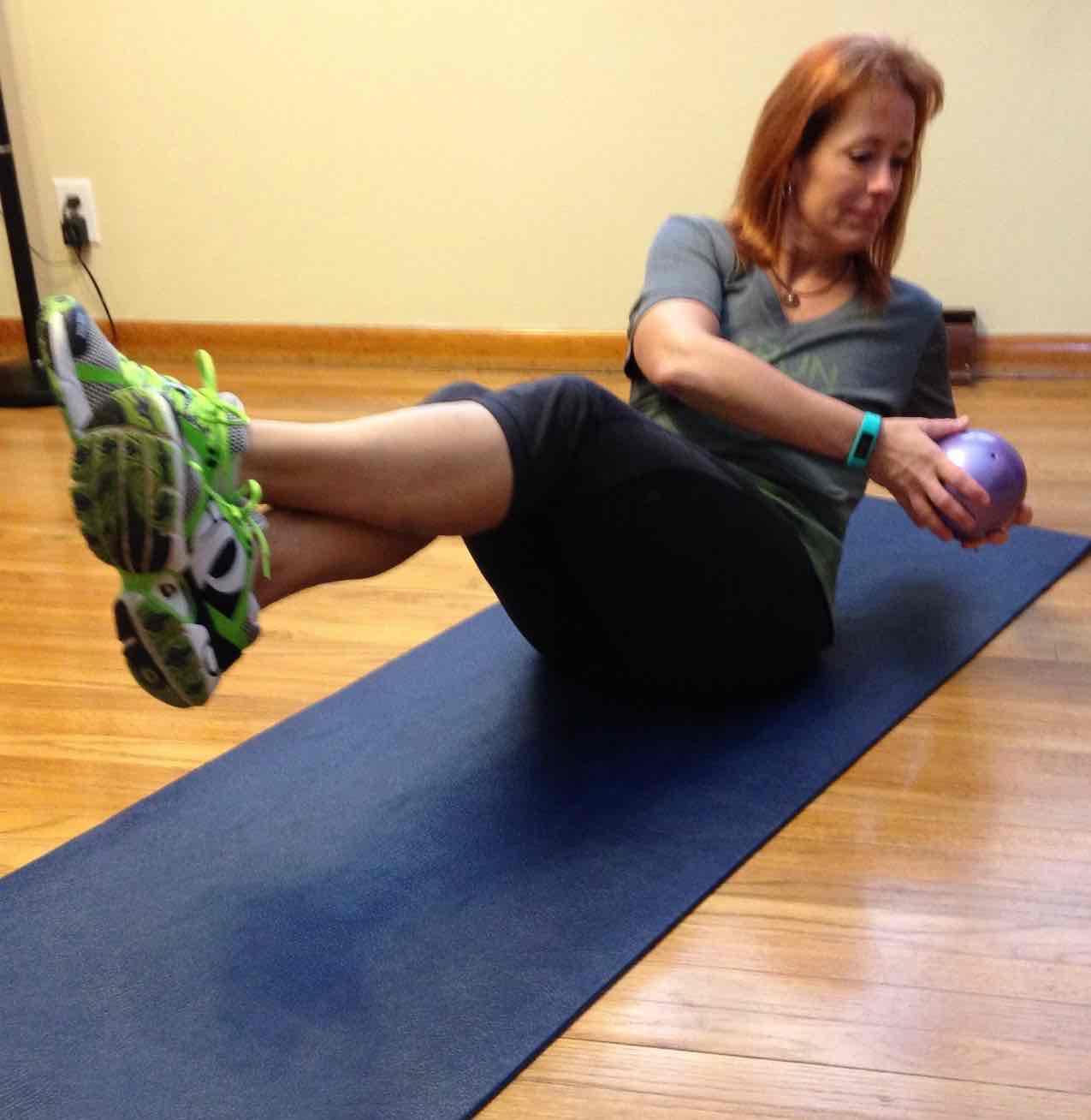 Jill russian twist feet off floor