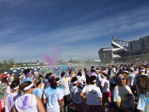 Graffiti Run start line