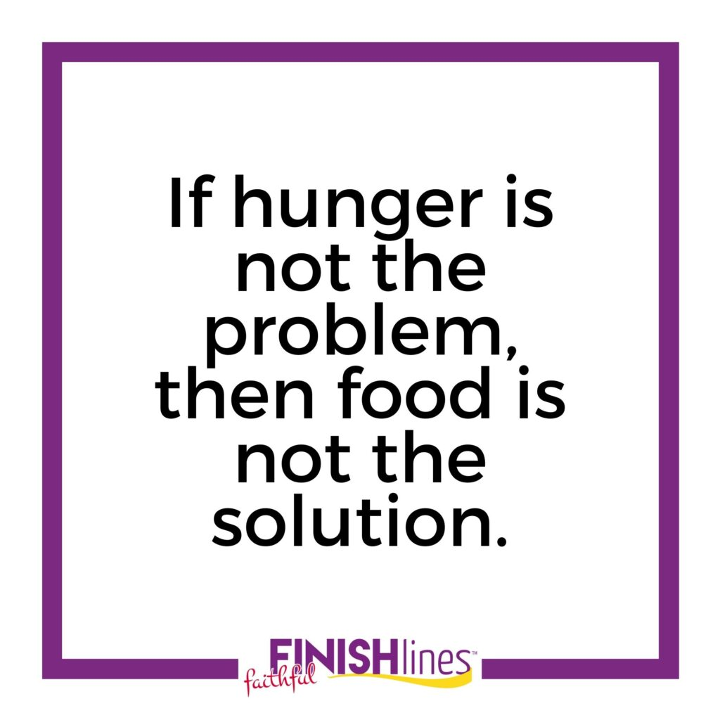 If hunger is not the problem, then food is not the solution.